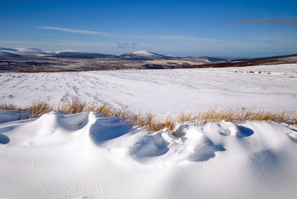 Stock Photo: 1812R-14971 Irish Snowscenes, Hills, Co Wicklow