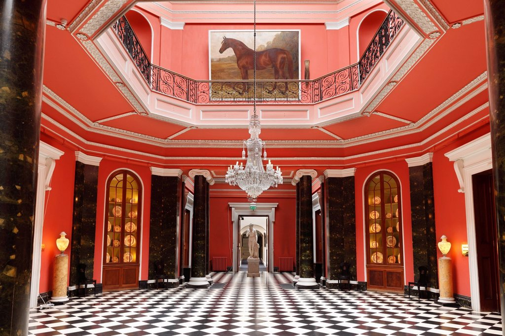Stock Photo: 1815-107615 United Kingdom, Northern Ireland, County Down, Newtownards, View of entrance hall at Mount Stewart house