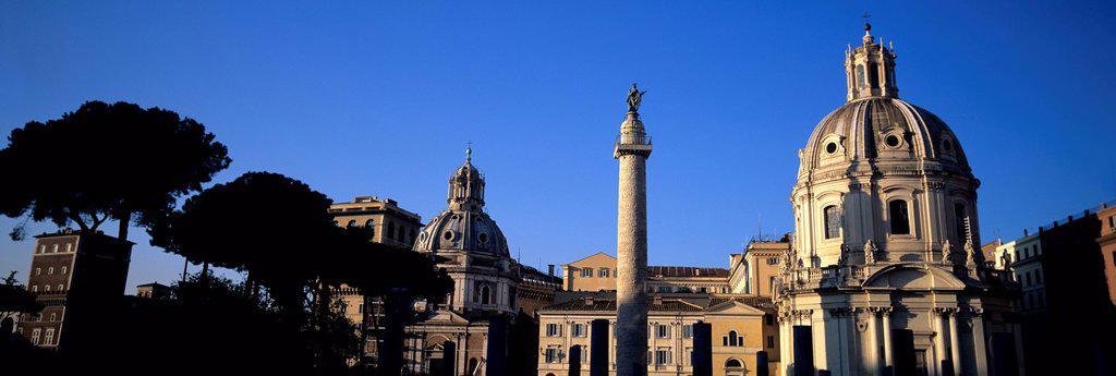 Italy, Rome, View of Santissimo Nome di Maria al Foro Traiano : Stock Photo