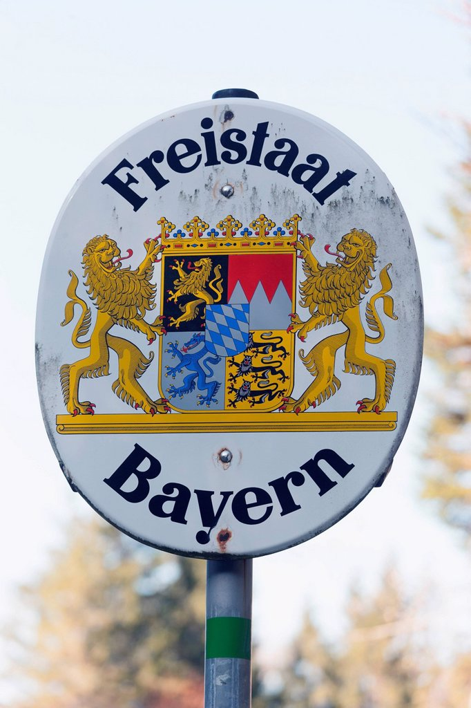 Stock Photo: 1815-125865 Germany, Bavaria, Riss Valley, Emblem of the Free State of Bavaria