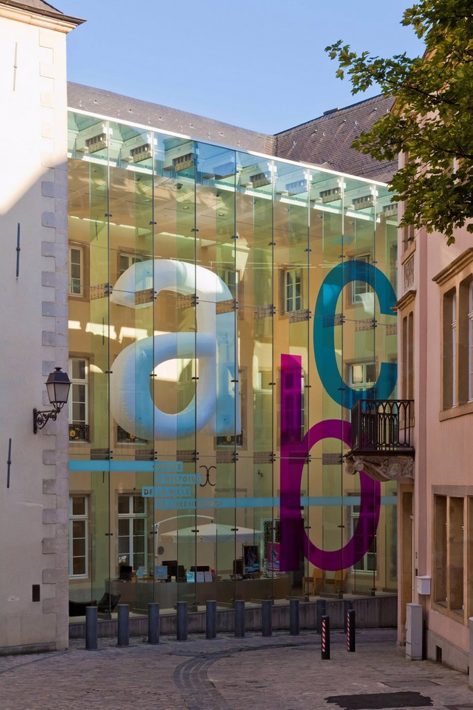 Luxembourg, View of Luxembourg City History Museum : Stock Photo