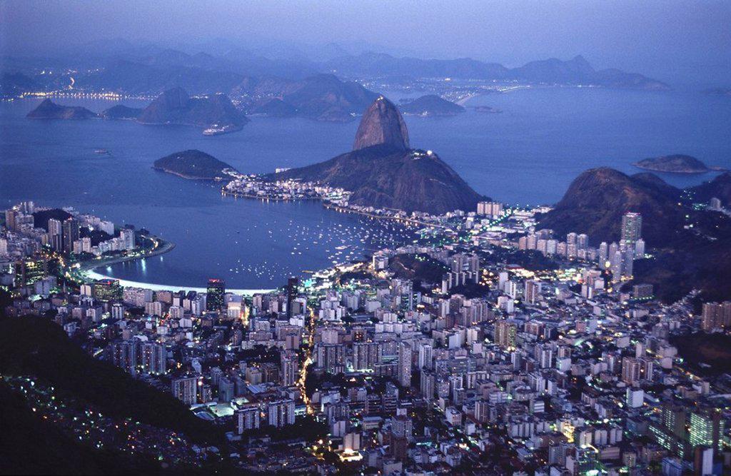 view of Rio de Janeiro from Corvocado : Stock Photo