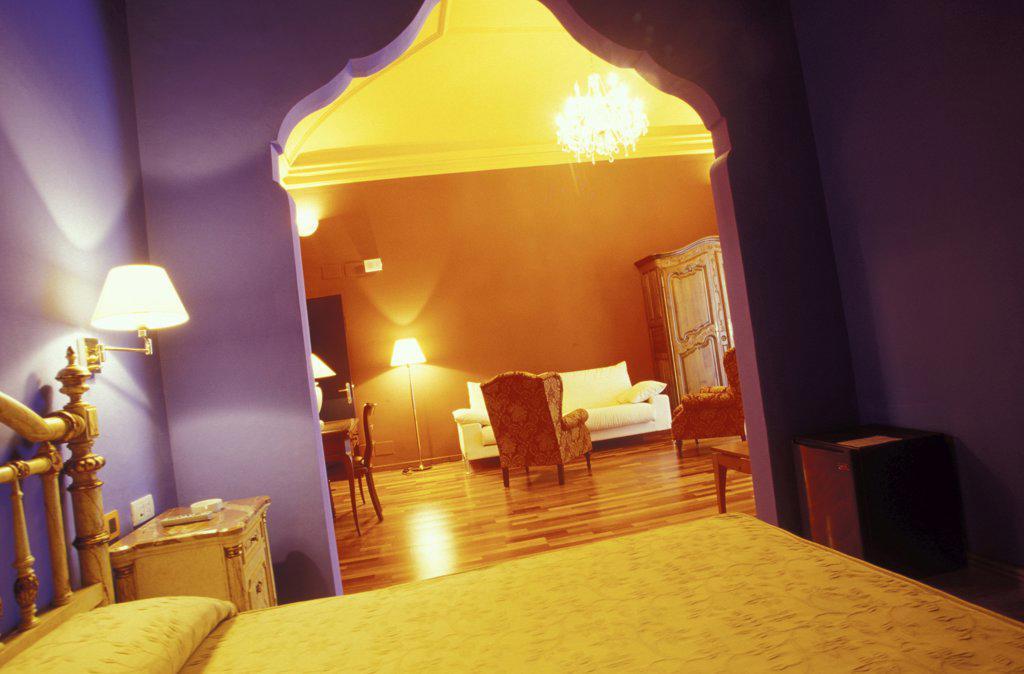 Hotel Casa de la Moneda, Castello d'Empuries, Costa Brava, Spain : Stock Photo