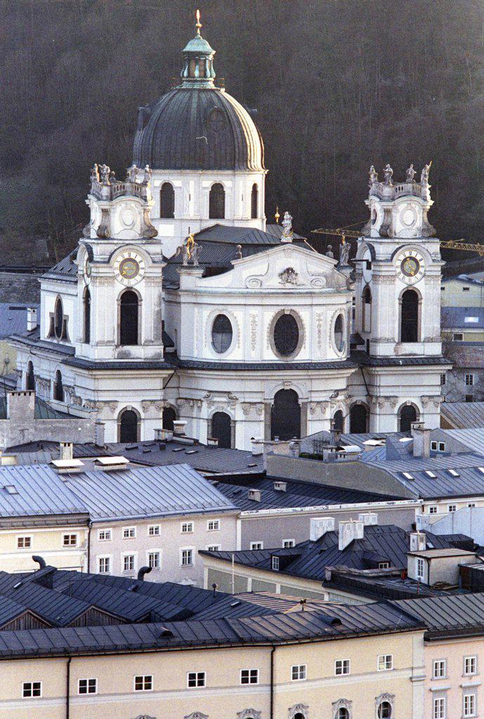Stock Photo: 1815-38989 Salzburg, Austria, Kollegienkirche seen form Kapuzinerberg