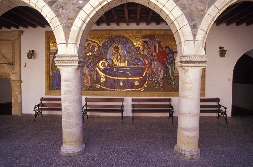 Wallpaintings at Kykko Monastery, Troodos, Cyprus : Stock Photo