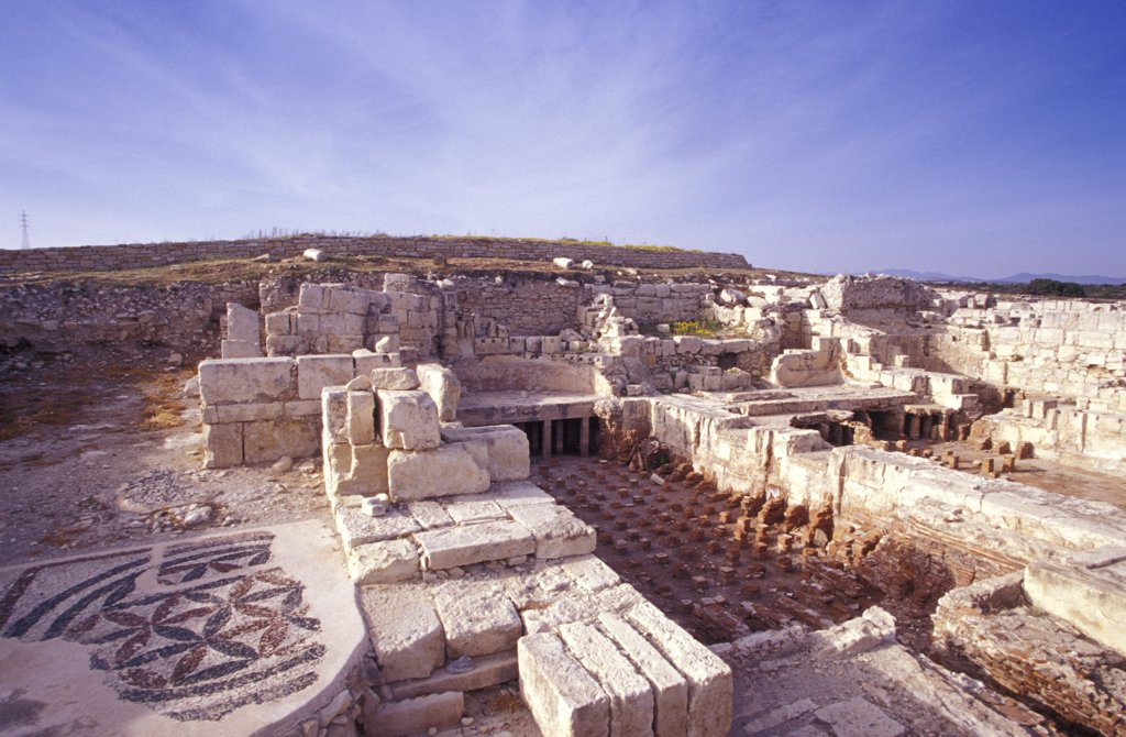 Ancient City of Kourion, Episkopi, Cyprus : Stock Photo