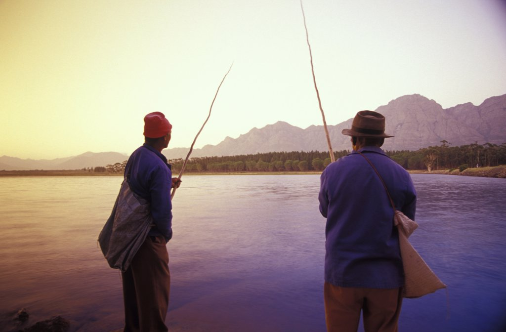 Fishermen, Bartholomeus Klip, Farmhouse, Western Cape, South Africa : Stock Photo