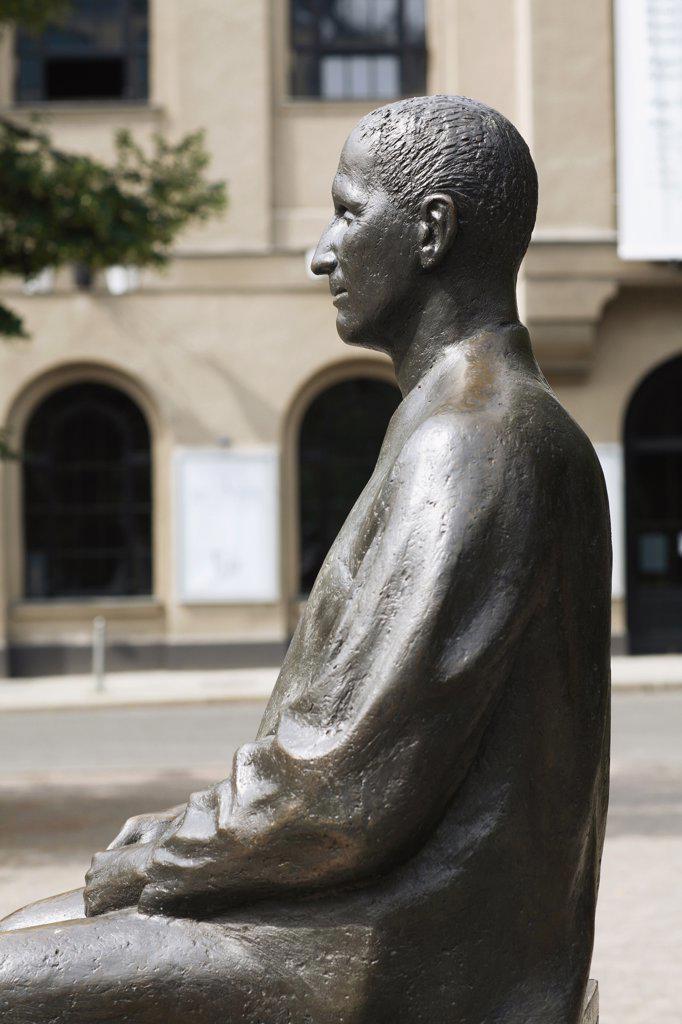 Germany, Berlin, Bertolt-Brecht monument : Stock Photo