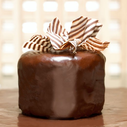 Chocolate cake, close-up : Stock Photo