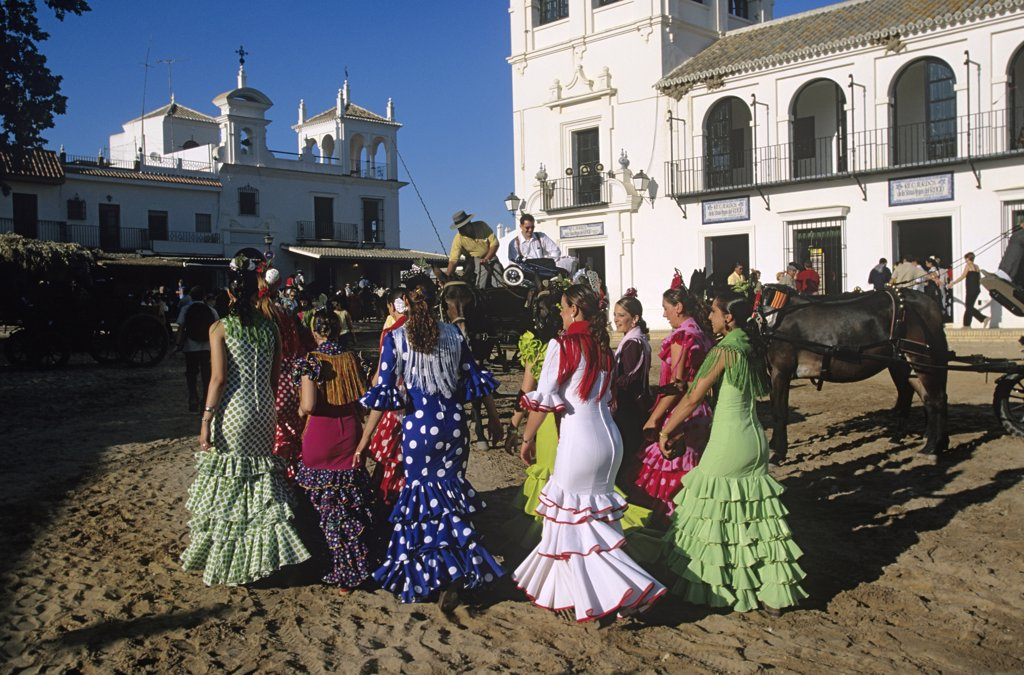 Stock Photo: 1815-41682 Spain, Andalusia, El Rocio, pilgrimage