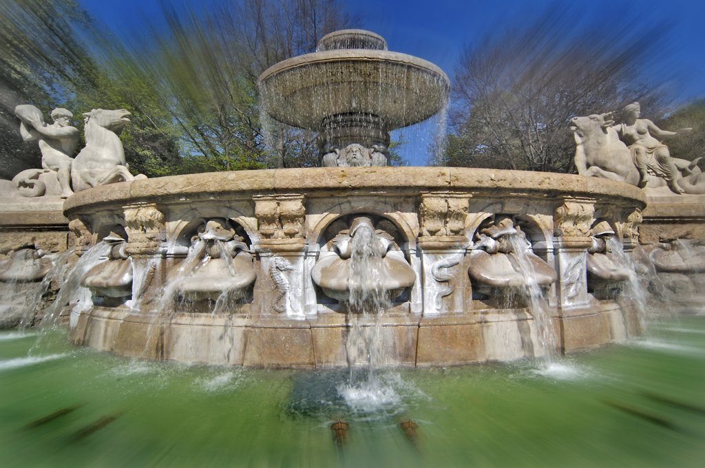 Germany, Bavaria, Munich, Wittelsbach Fountain : Stock Photo