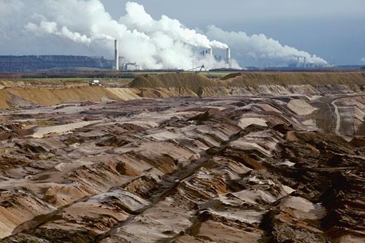 Stock Photo: 1815-42465 Germany, Garzweiler II, open pit mine