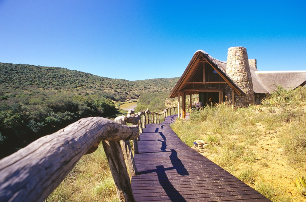 Way to the main house, Eastern Cape, Kwandwe Private Game Reserve,RSA : Stock Photo