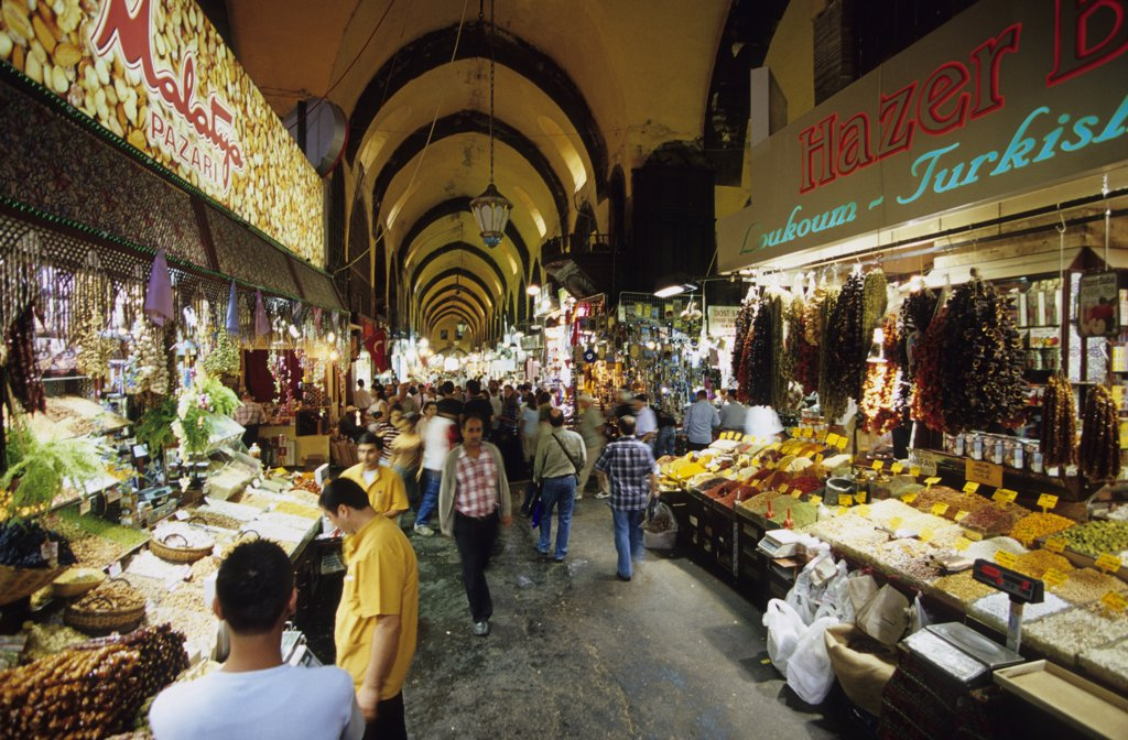 Istanbul, egyptian bazar, Turkey : Stock Photo