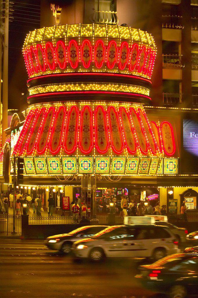 USA, Las Vegas, casino at night : Stock Photo