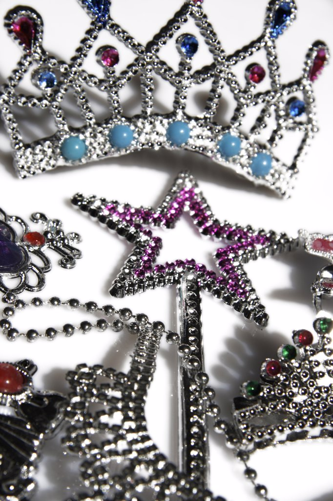 Colourful rhinestone jewelry, close-up : Stock Photo