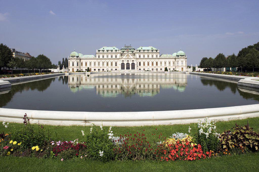 Austria, Vienna, Belvedere Castle, Upper Belvedere : Stock Photo