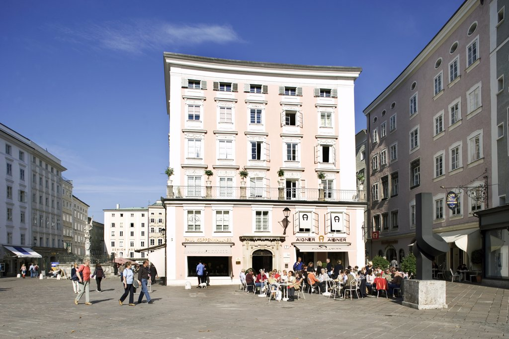 Austria, Salzburg, Old Market, Café Fürst : Stock Photo