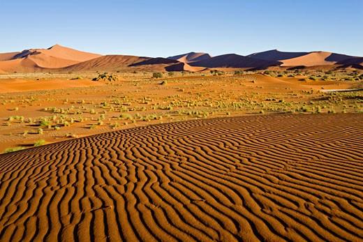 Africa, Namibia, Sossusvlei, Desert landscape : Stock Photo