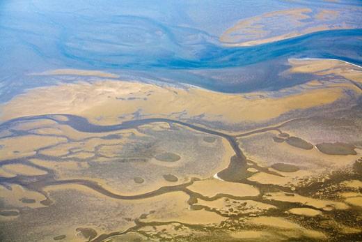 Stock Photo: 1815-47259 Africa, Namibia, Skeleton coast, Aerial view