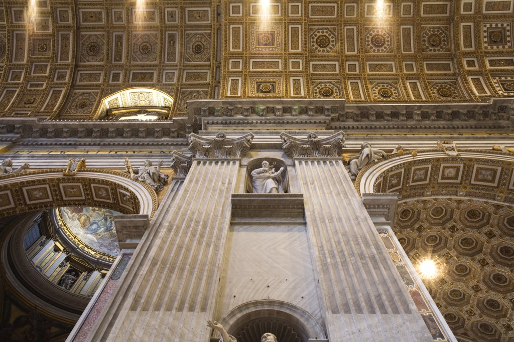 Italy, Rome, Vatican, St. Peter's Basilica, low angle view : Stock Photo