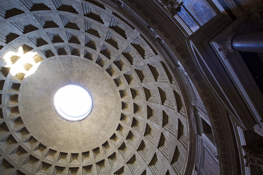 Italy, Rome, Pantheon dome, low angle view : Stock Photo