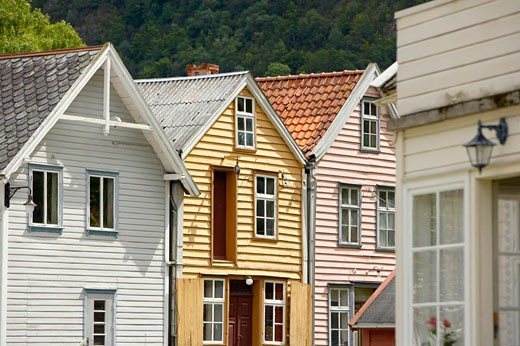 Stock Photo: 1815-47549 Norway, Laerdasory, Timber houses