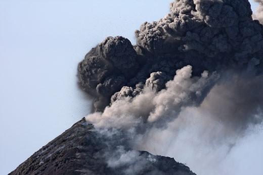 Stock Photo: 1815-48050 Guatemala, Fuego volcano, Ash eruption