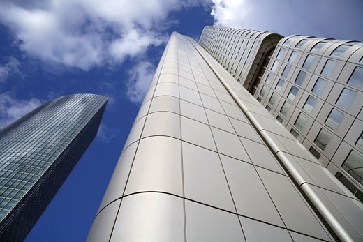 Stock Photo: 1815-48422 Germany, Frankfurt on the Main, Financial district, Dresdner Bank Building, Low angle view