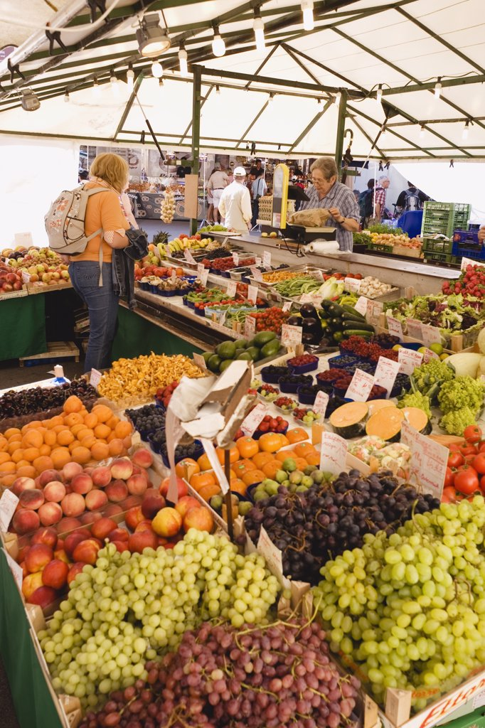 Austria, Salzburg, Farmer's market : Stock Photo