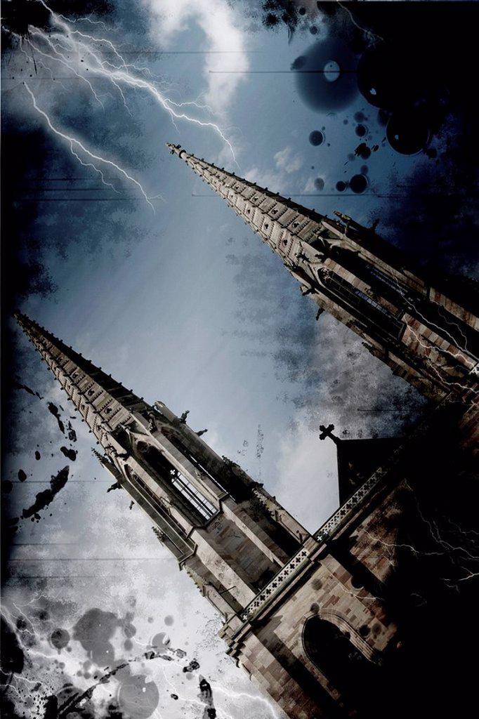 France, Alsace, Church : Stock Photo