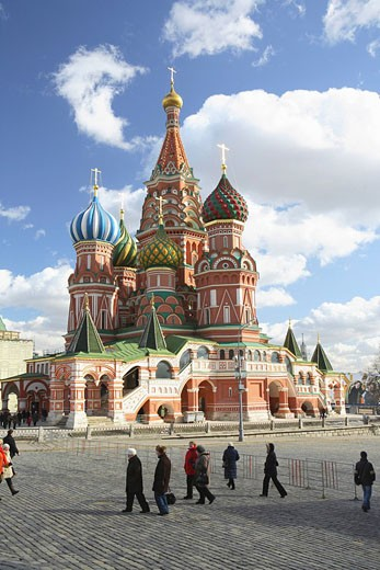 Stock Photo: 1815-49521 Russia, Moscow, Red Square, Basilius cathedral