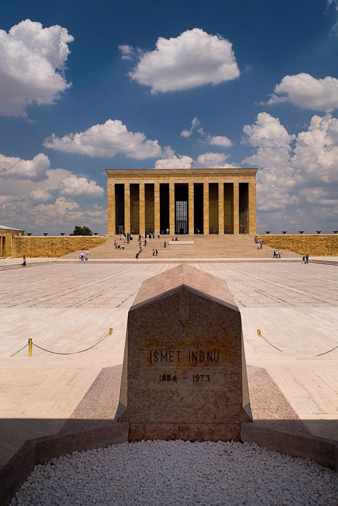 Turkey, Cappadocia, Ankara, Anitkabir, View of mausoleum of kemal ataturk : Stock Photo