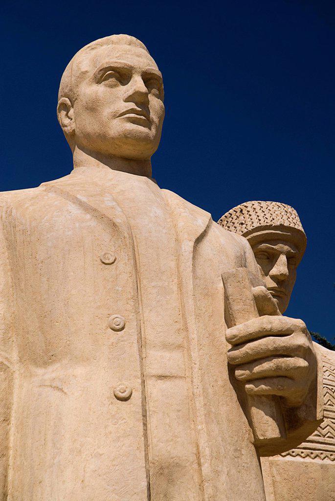 Stock Photo: 1815-88899 Turkey, Cappadocia, Ankara, Anitkabir, Statues of soldiers