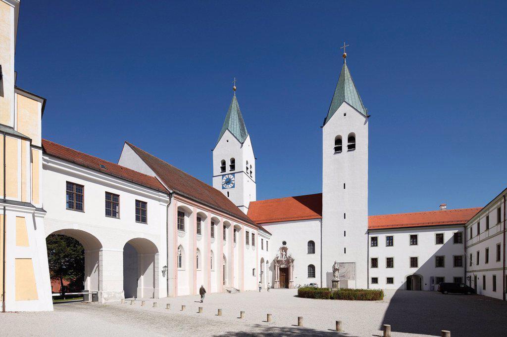 Germany, Bavaria, Upper Bavaria, Freising, View of St Mary church : Stock Photo