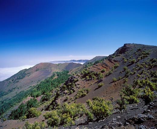Stock Photo: 1815-89409 Spain, Canary Islands, El Hierro, View of malpaso mountain