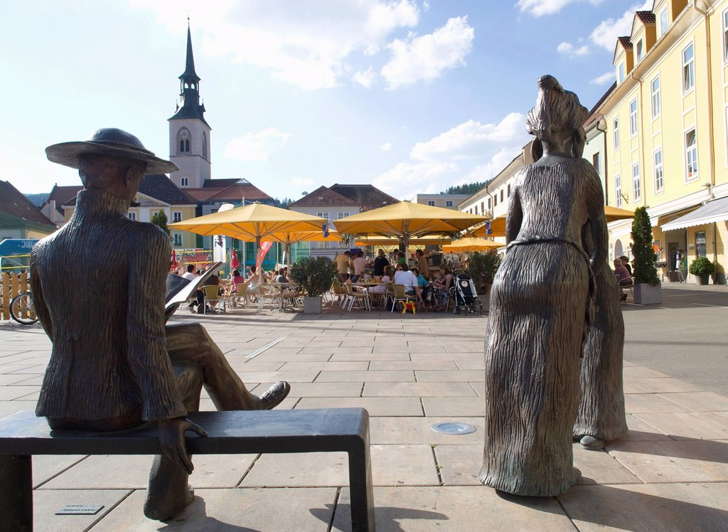 Austria, Styria, Bruck an der Mur, View of city : Stock Photo