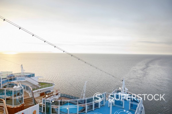 Stock Photo: 1815R-100338 Denmark, Aarhus, View of cruise ship