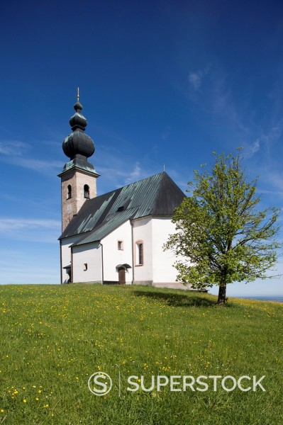 Stock Photo: 1815R-101432 Austria, Land Salzburg, View of Sommerholzkirche Church