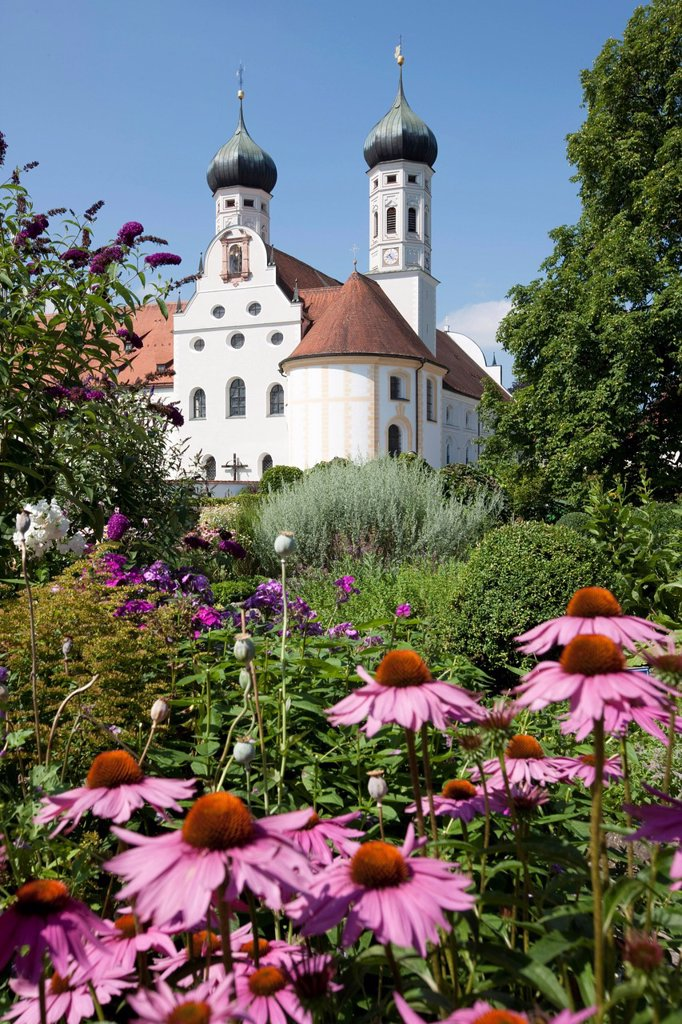 Stock Photo: 1815R-102045 Germany, Bavaria, View of Abbey Scheyern