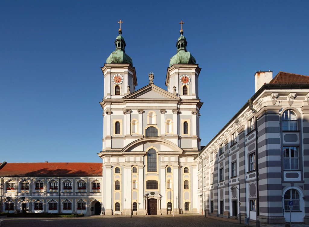 Germany, Bavaria, Upper Palatinate, Waldsassen, View of church : Stock Photo