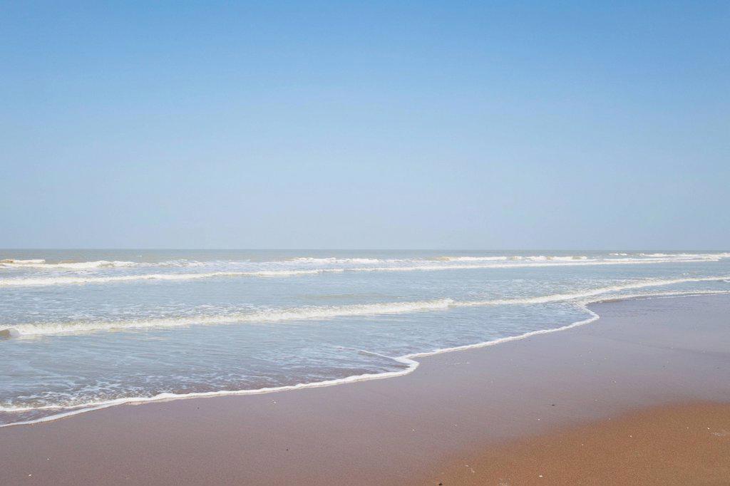 Belgium, View of North Sea : Stock Photo