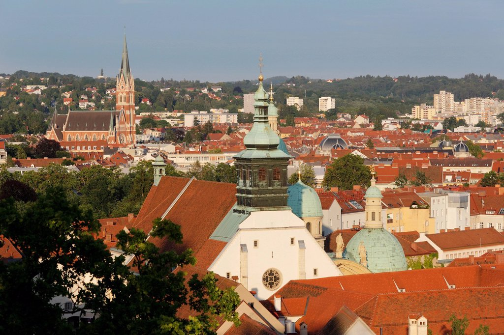Stock Photo: 1815R-107181 Austria, Styria, Graz, View of Cathedral and Mausoleum