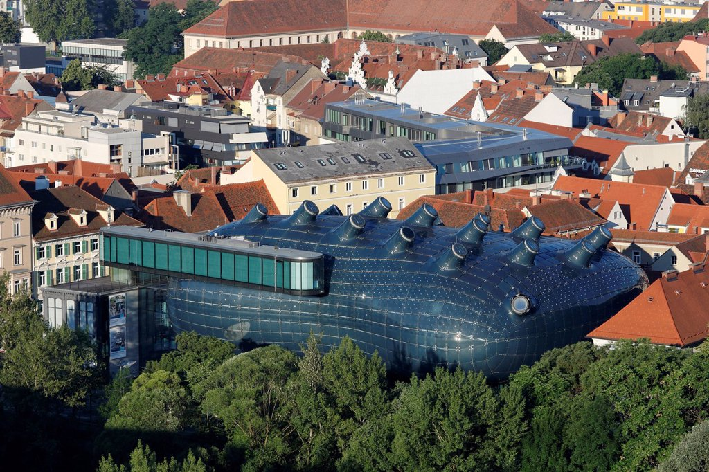 Stock Photo: 1815R-107187 Austria, Styria, Graz, View of museum and contemporary art