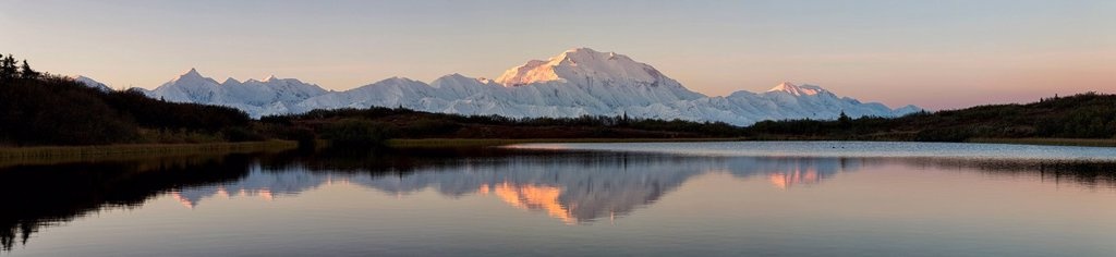 Stock Photo: 1815R-117665 USA, Alaska, View of Mount McKinley and Alaska Range at Denali National Park