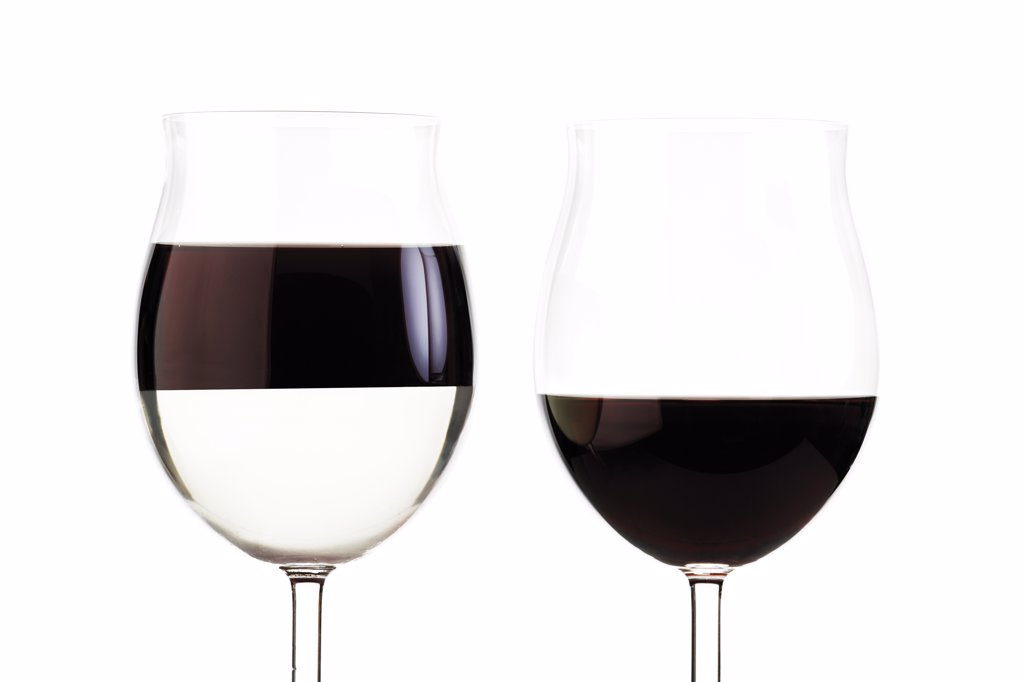 Two glasses with red wine : Stock Photo