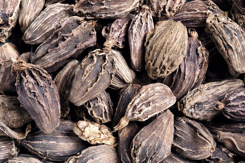 Dried cardamom, close-up : Stock Photo