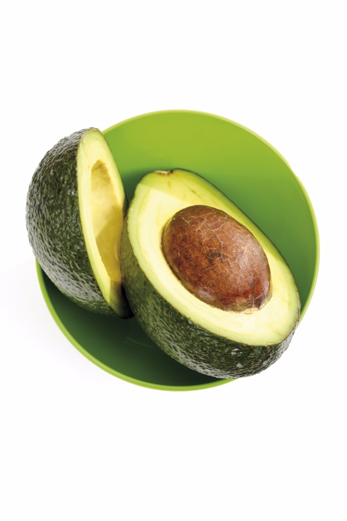 Stock Photo: 1815R-15948 Avocado in bowl, cross section