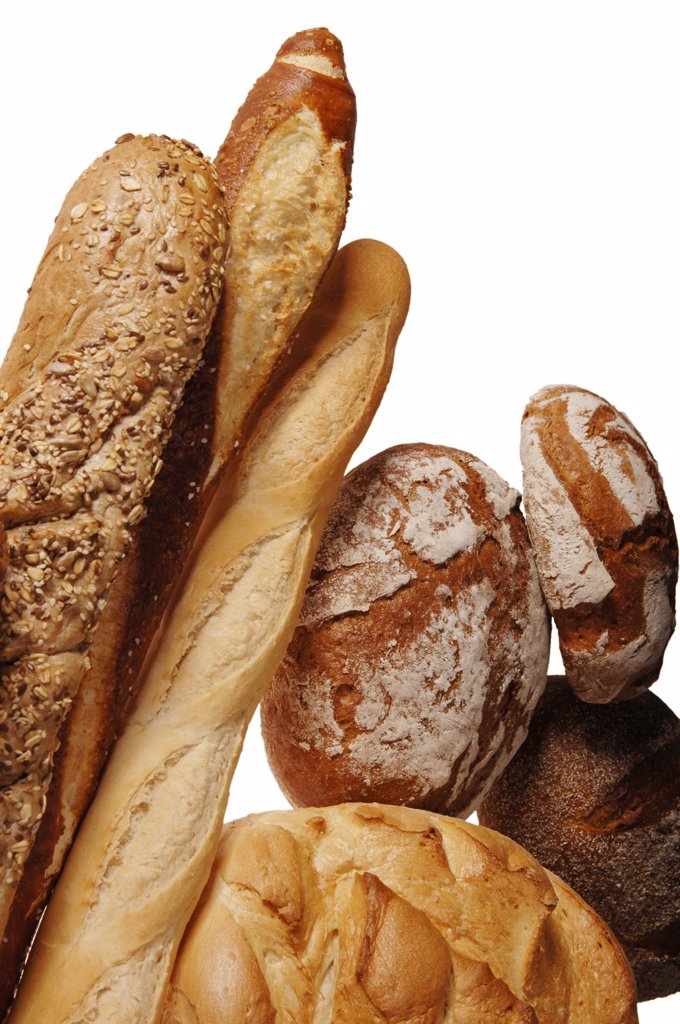 Various sorts of bread, close-up : Stock Photo