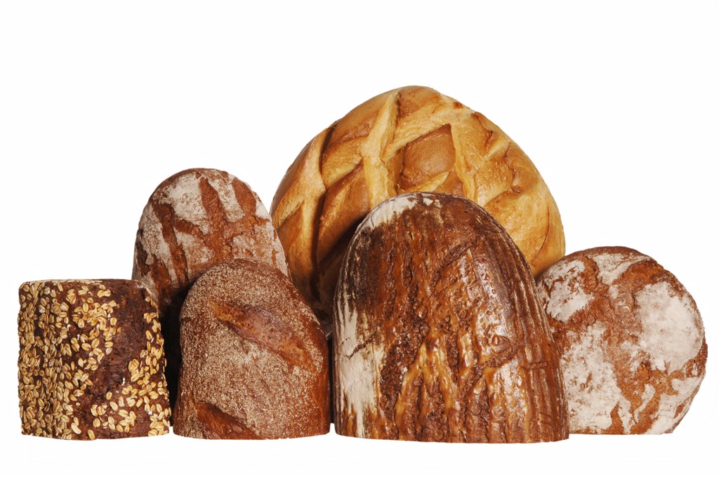 Stock Photo: 1815R-20586 Various sorts of bread, close-up